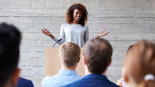women conducting presentation