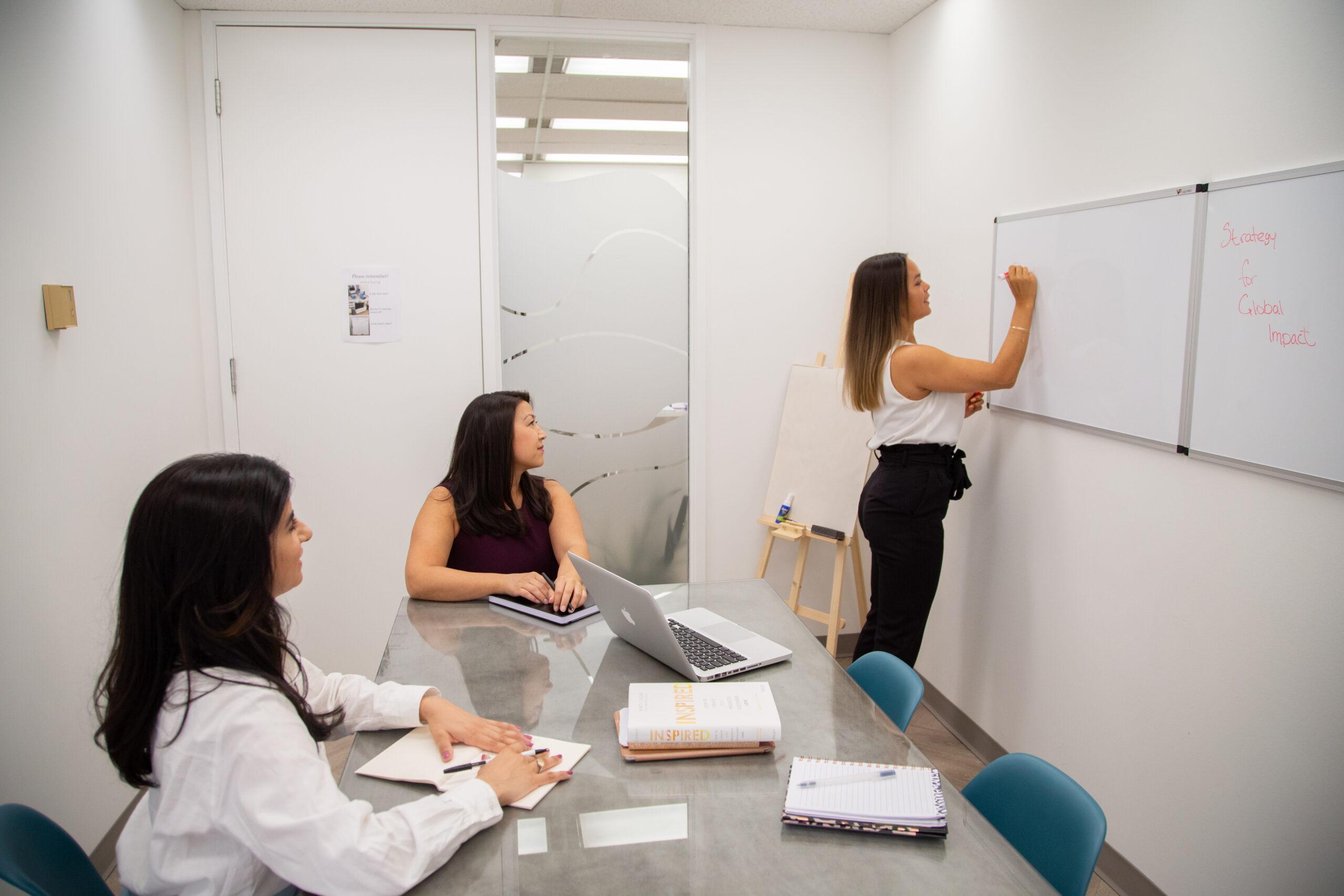 team members in boardroom